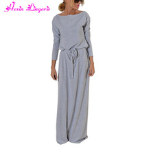 New Design Europe America Style Grey Long Sleeve Fashion Latest Formal Dress