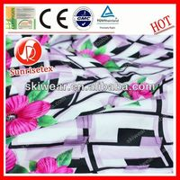 various pattern silk fabric hand painted made in china
