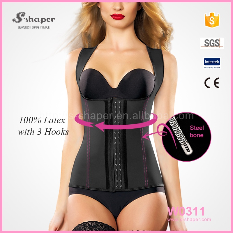 S-SHAPER Waist Shaper Fajas Colombian Girdle,Black Colour Classic Girdle Vest