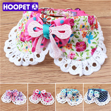 Dog Supplies New Design Lace Flower Pet Collar With Bell