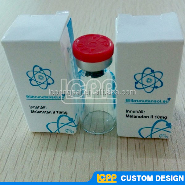Professional design security eco-friendly hologram 2ml 10ml Vial box packaging