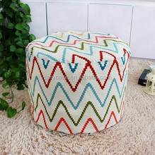 triangle chevron picture round bean bag cushion, portable beanbag filled stool, sit on it ottomans