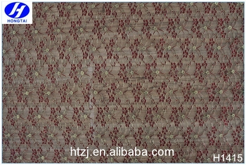Hot selling in high quality swiss nylon flower lace fabric voile lace in china