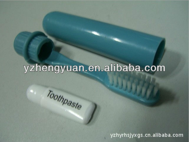 foldable airline toothbrush with toothpaste