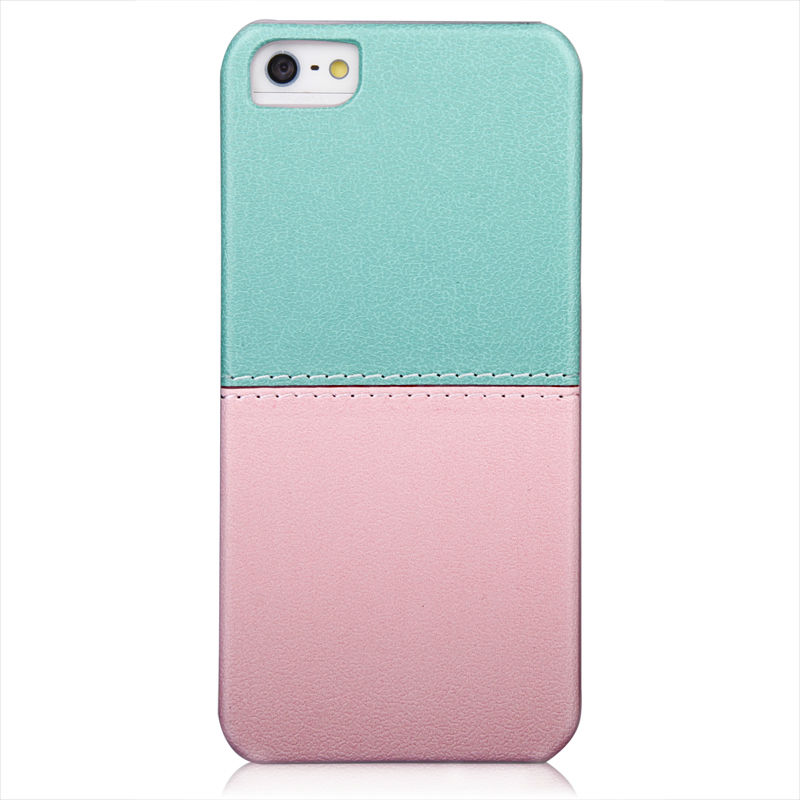 ABS+PU leather hard case two color hot selling wallet case for iphone 5 5g