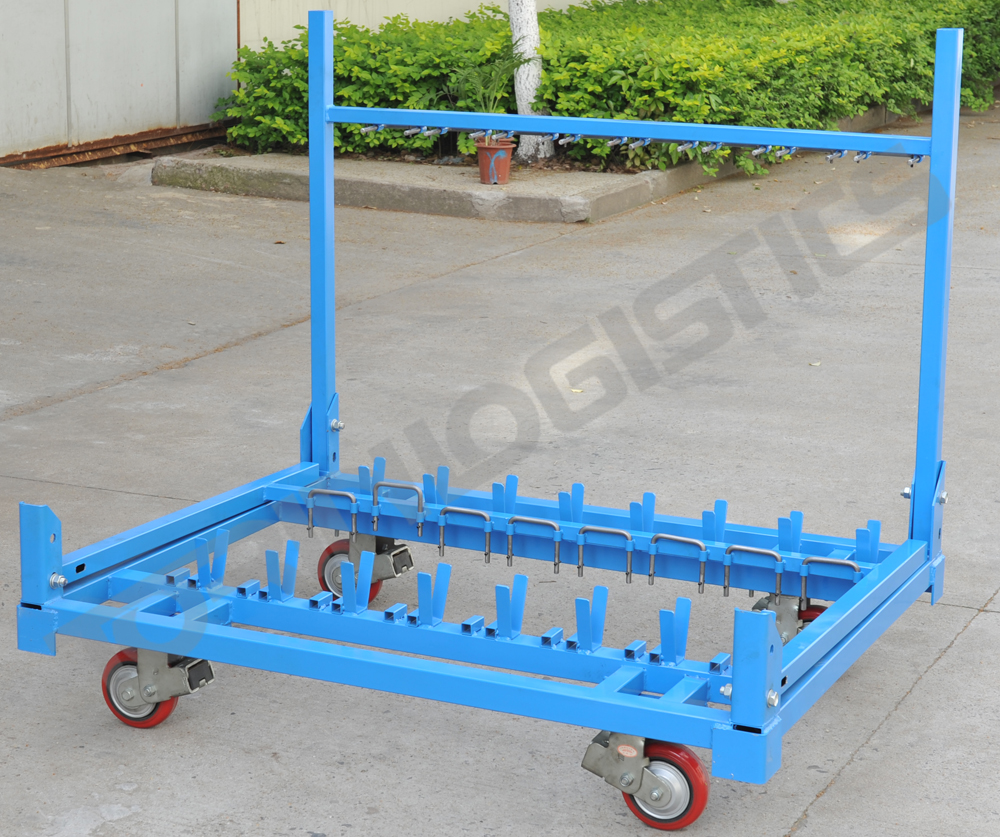 Stackable warehouse nesting heavy car rack