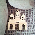 House laser cut wood craft shapes