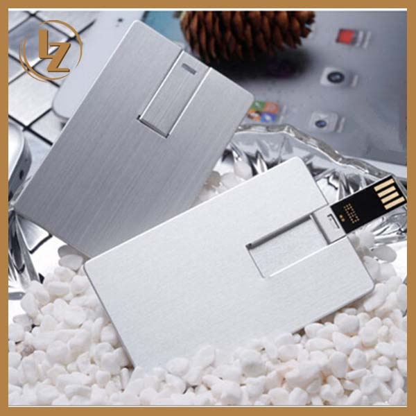 Portable Super Thin Credit Card USB Flash Disk with Big Capacity 32GB 64GB