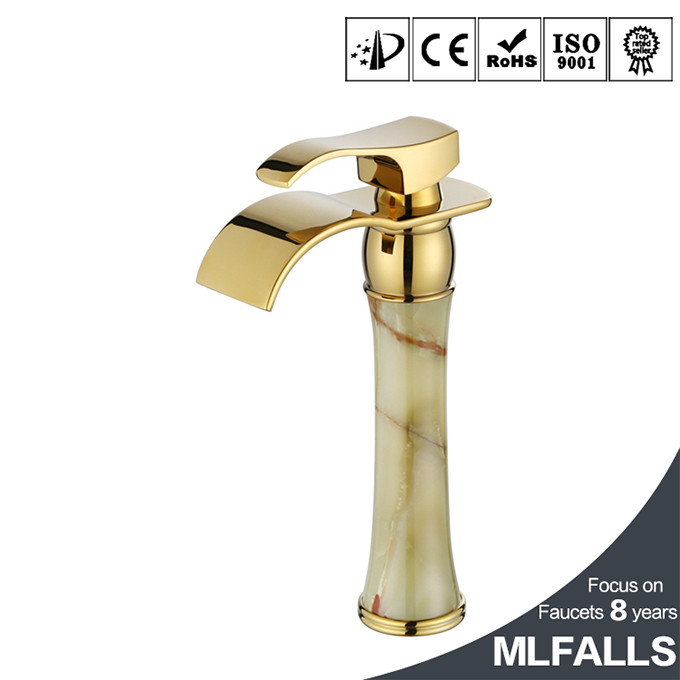 Wholesale china Waterfall Golden basin water tap various types of faucets