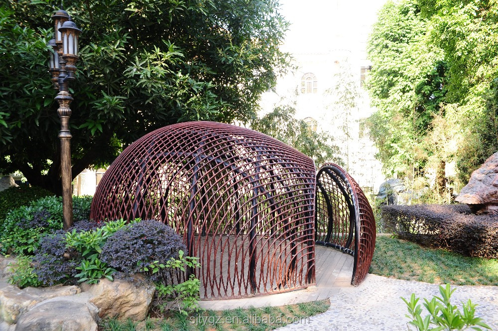 Super outdoor wrought iron birdcage from Guangzhou Suji