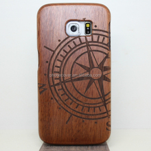 2016 Hot Selling Cell Phone Accessory Customized blank wood cover case for Samsung Galaxy S6