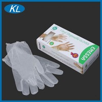 Hospital red powder free ISO CE FDA approved examination vinyl gloves wuxi wholesale