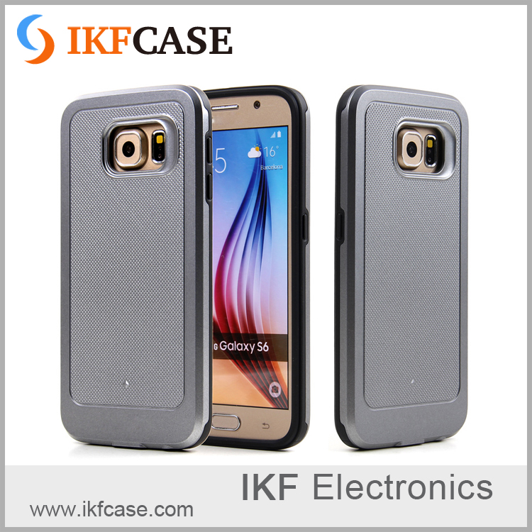 New arrival and low MOQ TPU+PC rugged cell phone cases in stock for Samsung S6