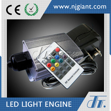 Mini Ce RoHS certificated GLE-5 5W led rgb fiber optic light engine illuminator