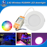 56/60HZ AC85-265v RGB5050 chip cct adjustable low price 6w led downlight with 90mm cut out