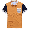 2014 cheap custom tripe buttonless polo shirt for men