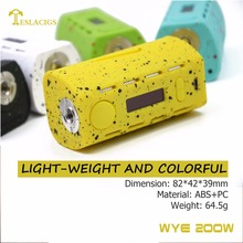 WYE 200w is 64.5g with good hand feeling, colorful appearance, unique design, excellent safe mod WYE 200w take you suprise!