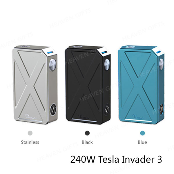 New Coming 6.6V 45A 240W Tesla Invader 3 VV/VW ecig vape mod