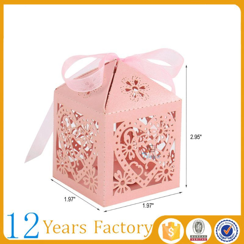 Free coupon $1000 die cut packaging candy wedding favor boxes