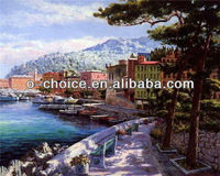 M-257 For Sale Home Decoration Village Scenery Canvas Oil Painting