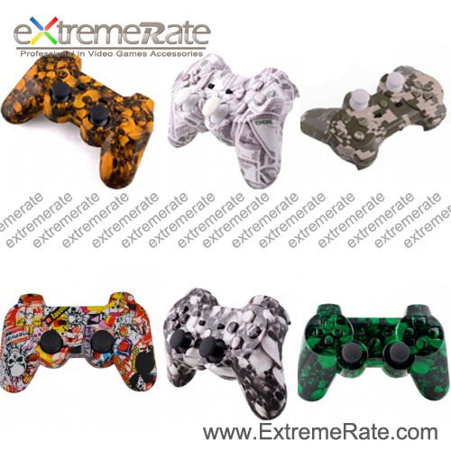 hydro dipped housing replacement plastic shell For PS3 Controller free shiping