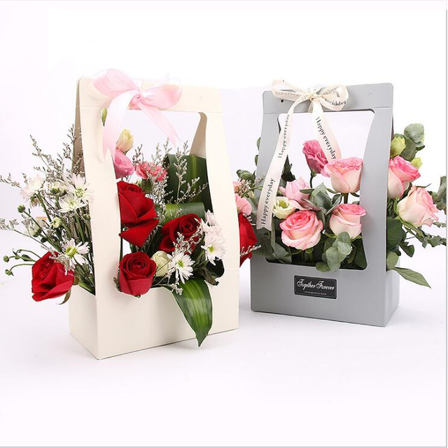 Customize Cheap Wedding Decoration Fower Paper Packaging Bags