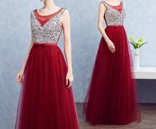 New Style Wedding Long Dress Red Sleeveless Mermaid Prom Maxi Dress