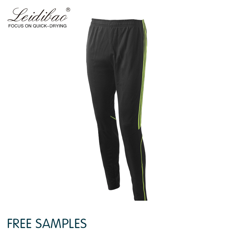Wholesale Polyester Custom Mens Gym Sports Black Track Pants