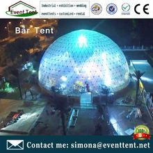 Good quality PVC tent fabric led light domes large dome tent for outdoor wedding party and event