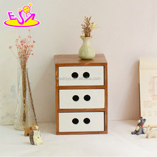 High quality 3 layer wooden small cabinet drawers with best price W08C258