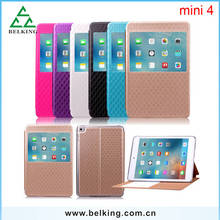 Elegant Screen Touch Leather Window Case For iPad Mini 4 Tab