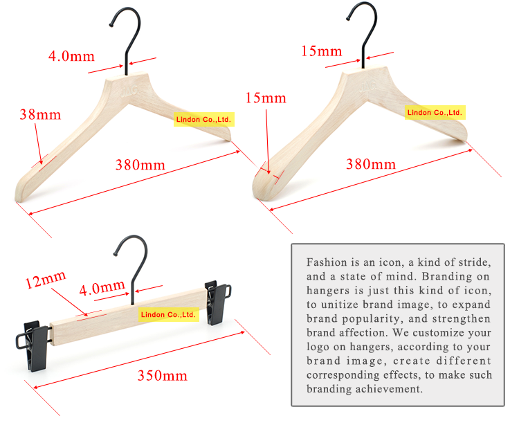 Factory Provide All Kinds of Fashion Brand Set Wooden Cloth Hangers