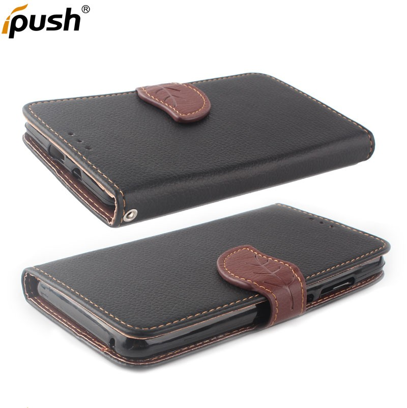 Leather+TPU Material and Flip Design leather mobile phone case for iphone 6plus