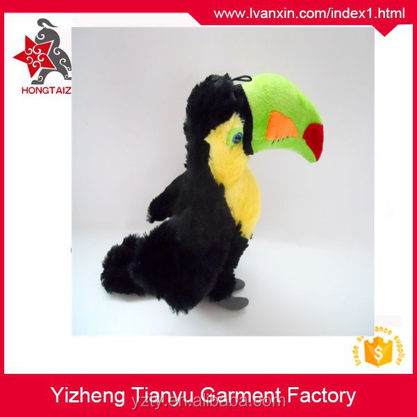 factory custom standing vivid plush parrots toy