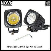 Car Part 25W Led Headlight Motorcycle Square Headlight