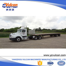 Factory supply double axle flatbed dolly semi truck trailer for sale