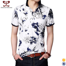 2017 Fashion Short Sleeve Custom t shirts Printing Slim Fit Round Neck Polo tee shirt Wholesale 100% Cotton t shirt For Men