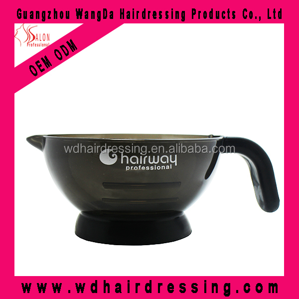 Hair salon products Plastic Black Hair Color Tint Bowl with handle