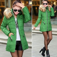 Onenweb New Women Winter Warm Candy Color Thin Slim Down Long Coat SV006238