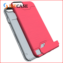 2017 New arrivals credit card holder hybrid wire drawing cell phone cover for iphone 7
