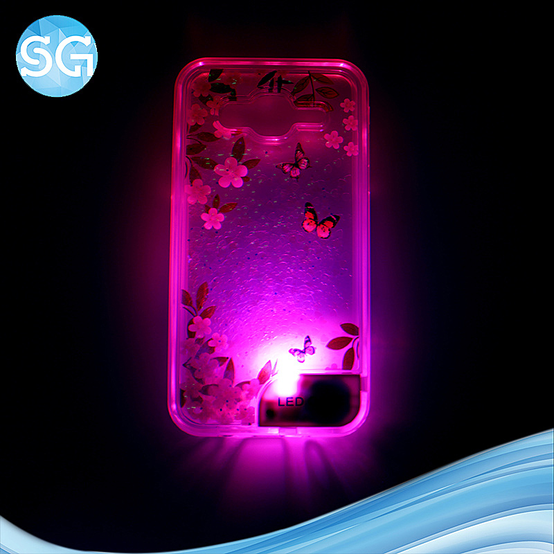 hot custom led light up case cell phone case for Samsung J5