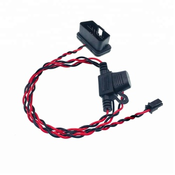 24V OBD OBD2 2 PIN OBDII Power Cable to Molex Connector with Fuse Holder