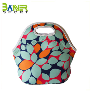 Portable takeaway lunch food cooler bag insulated zip lunch tote bag picnic lunchbox holder carrying case