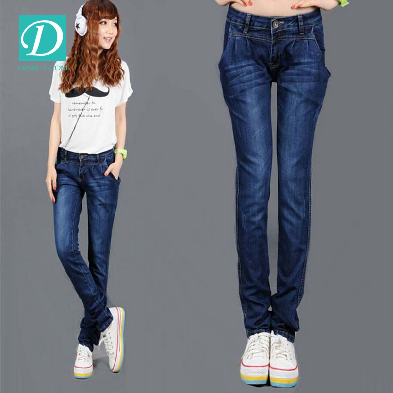 women blue butt-lifting skinny jeans