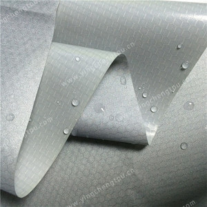 Silver Coated Fabric 75D Polyester Fabric Bonded TPU Film with Silver Coated