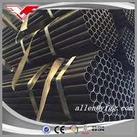 construction and liquid transport usage Black ERW Steel Pipes
