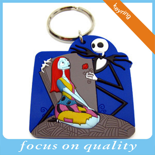 business souvenirs customized sexy girl 3d rubber soft pvc keychains for promotion low price