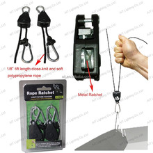 1/8inch 6ft Rope Ratchet Light Hanger with metal ratchet