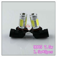 Hotales!!2013 New Arrival 9005 LED Bulb 1.5w*5pcs 7.5w High Power LED Replace Light LED Fog Light