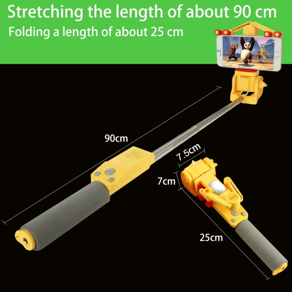 2018 The Newest 360 rotating degree aluminum wire selfie stick extendable monopod 360 selfie stick